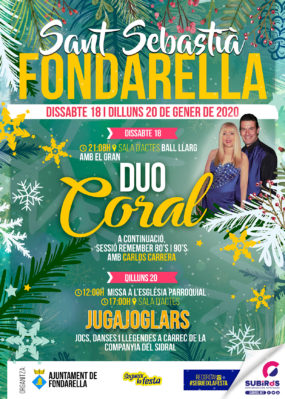 FONDARELLA FESTA DE SANT SEBASTIÀ GENER 2020