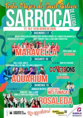 SARROCA DE LLEIDA FESTA DE SANT ANTONI GENER 2020