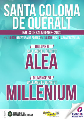 SALA DE BALL STA. COLOMA DE QUERALT GENER 2020