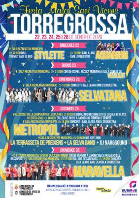 TORREGROSSA FESTA MAJOR DE SANT VICENÇ GENER 2020